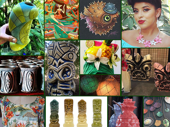 Over 30 Tiki Artists & Vendors